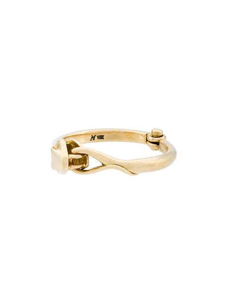 Marc Alary snake women ring gold grey metallic jewels