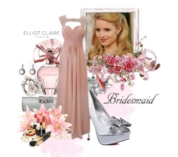 dress long bridesmaid dress pink bridesmaid dress mix and match