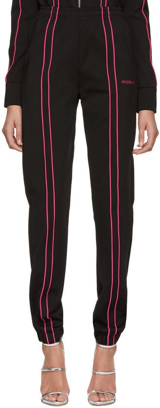 pants track pants black pink black and pink