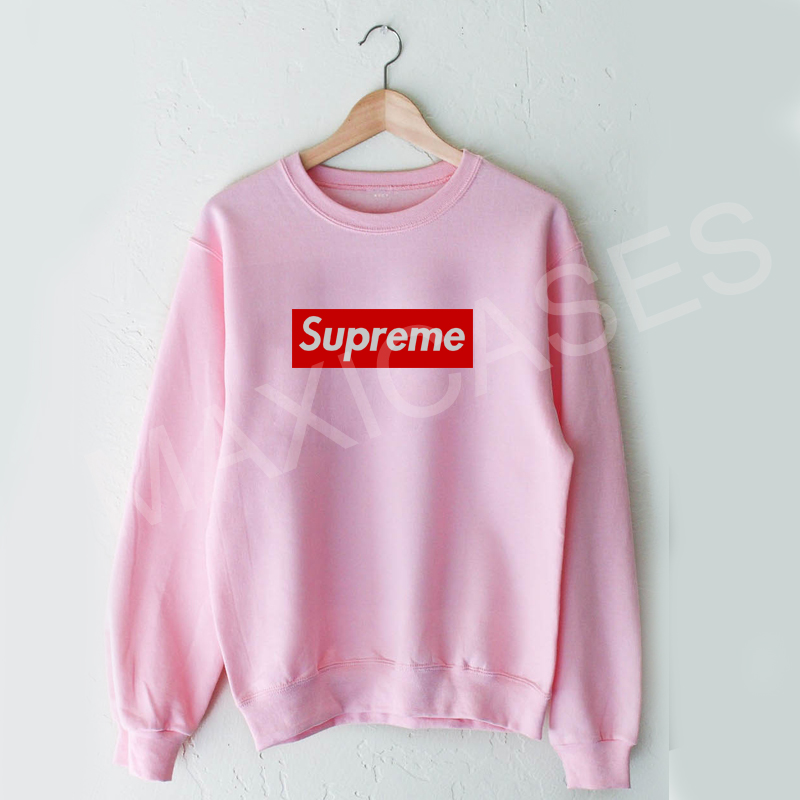 Supreme Logo Sweatshirt Sweater Unisex Adults Size S To 2xl