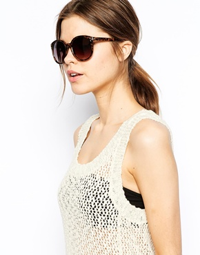 Warehouse | Warehouse Oversized Preppy Sunglasses at ASOS