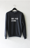 Sorry i'm not listening sweater – nyct