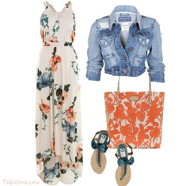 dress floral maxi dress white white dress cinched waist chic girly funny loose spring summer casual bag shoes jacket floral maxi dress