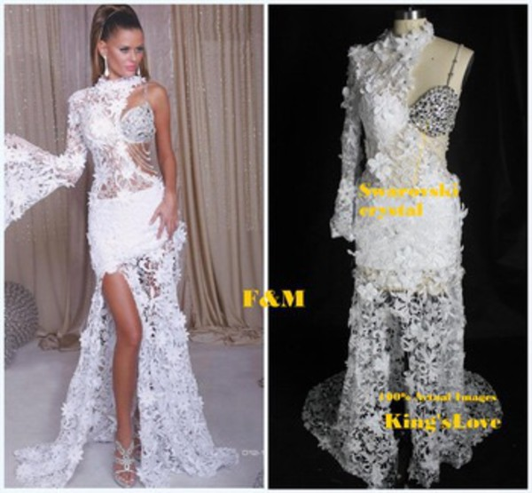 Elegant New Arrival 2015 Crystal Special Occasion Dresses High ...