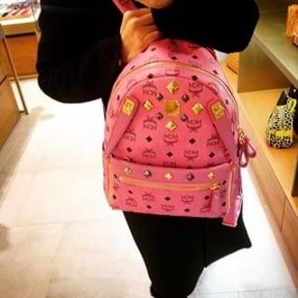 bag mcm pink bookbag
