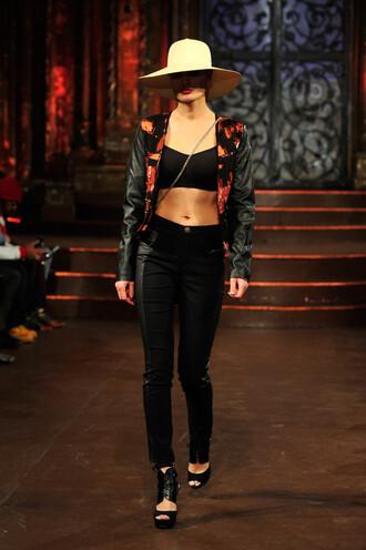 jacket pants crop tops hat fashion week 2016 ny fashion week 2016
