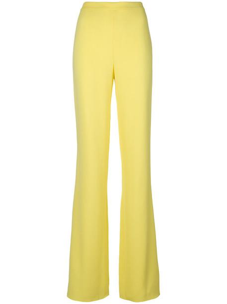 women spandex yellow orange pants
