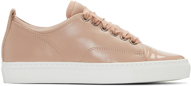 Lanvin Pink Leather Sneakers