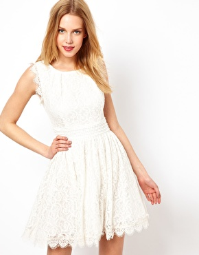 Darling | Darling Lace Skater Dress at ASOS