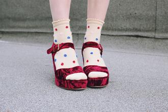 shoes wedges velvet velvet shoes tumblr shoes red velvet ankle strap heels velvet sandals