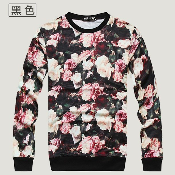 Sweater: supreme, floral, floers, sweatshirt, crewneck, pullover ...