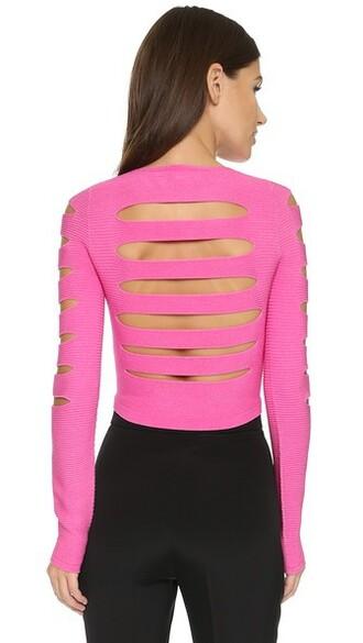 top long pink