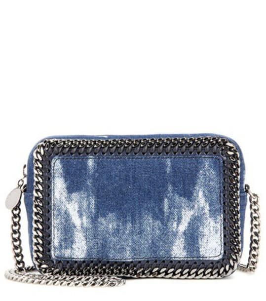 Stella McCartney Falabella Denim Crossbody Bag in blue