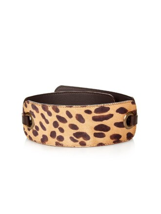 hair belt waist belt print animal