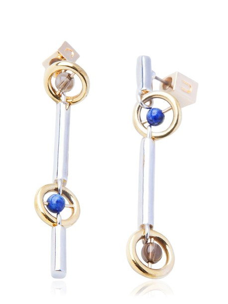 URIBE earrings blue pink jewels