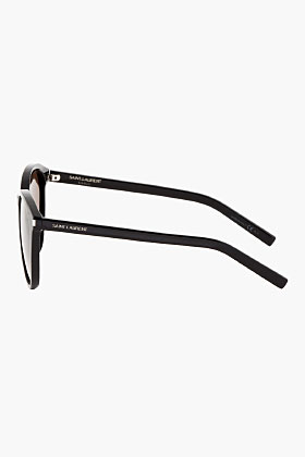Saint Laurent Black Classic 6/s Round Sunglasses for men | SSENSE