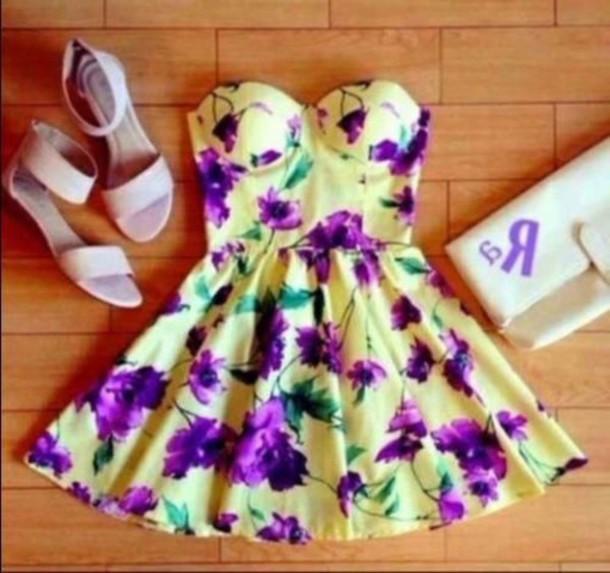 dress floral dress shoes