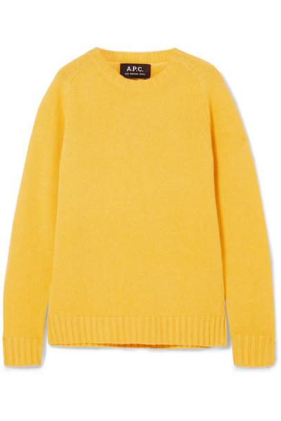 sweater wool yellow