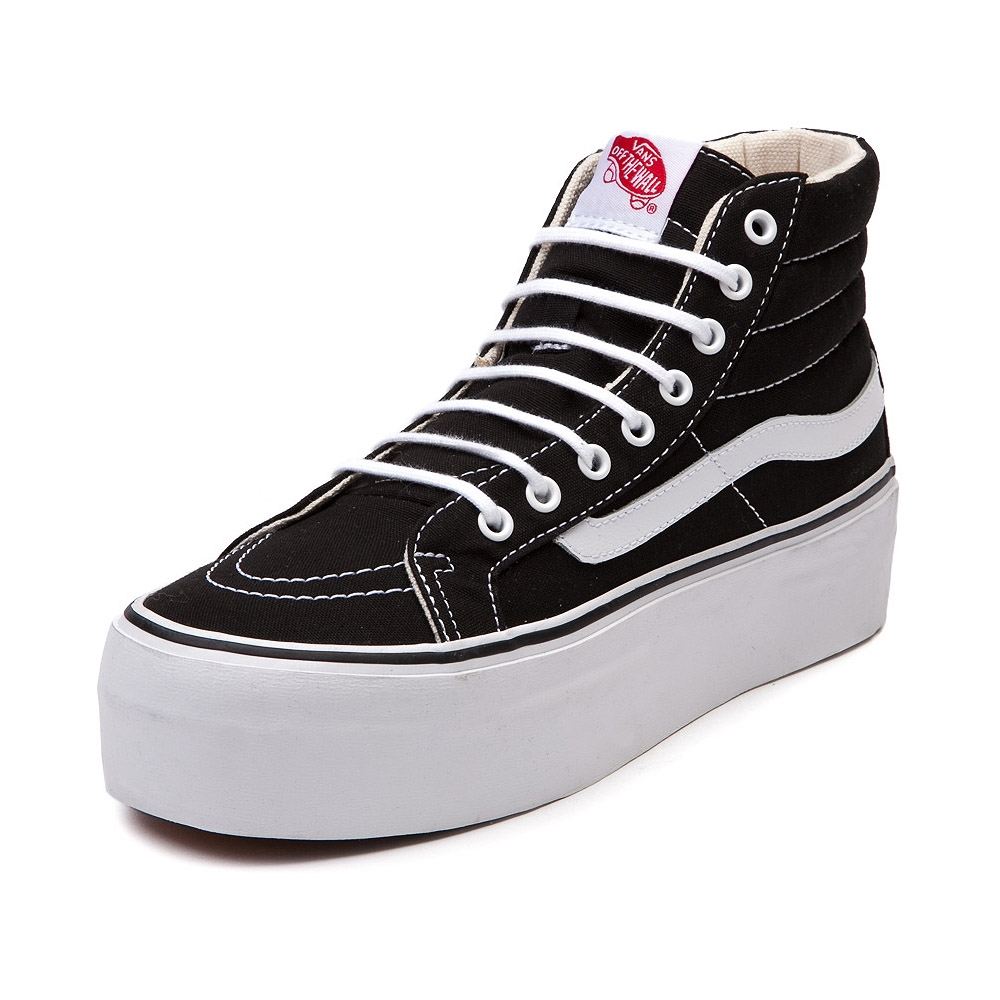 Vans SK8 Hi Platform Shoe in Black White  01b16ce41