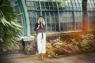 miss pandora blogger pants blouse jacket shoes underwear bag