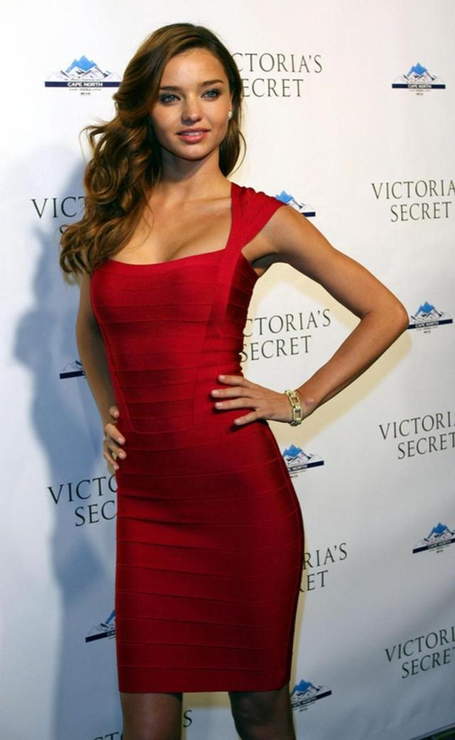 Free Shipping Miranda Kerr Red Sexy Fashion Celebrity HL Bandage Dress Evening-in Party Dresses from Apparel & Accessories on Aliexpress.com