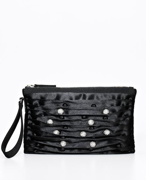 Belted foldover bag