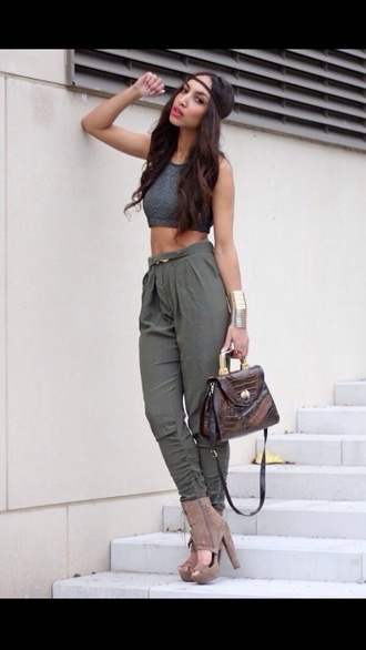 pants green pants trouser skinny pants cargo pants green trousers skinny trousers
