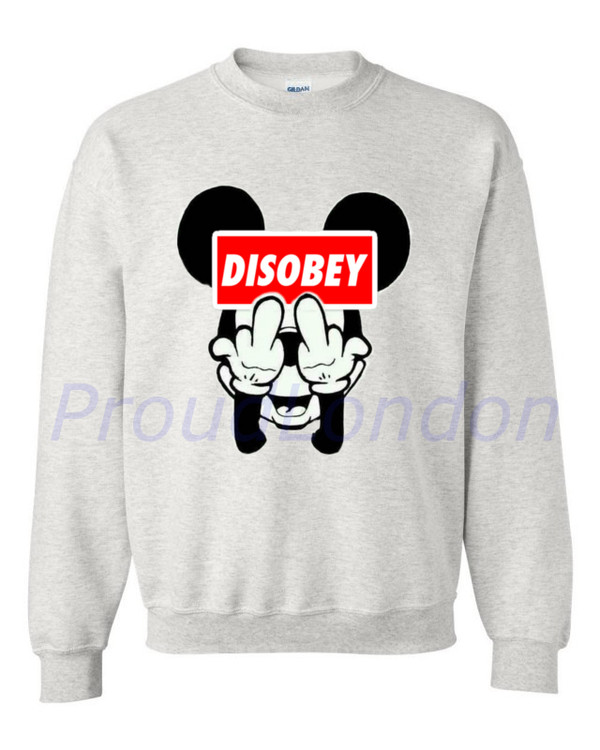 sweater clothes cocaine and caviar unisex sweatshirt mickey mouse disobey