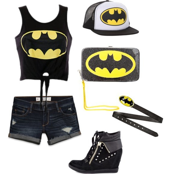 cap shoes hat tank top batman top swag bag