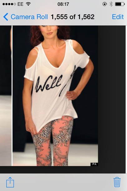 t-shirt where to get these leggins and white top x