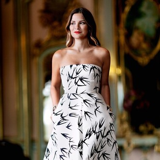 dress rochas black and white long dress gown romantic evening dress luisa fere luisa fernanda espinosa firenze4ever luxury designer fashion haute couture blogger fashion blogger