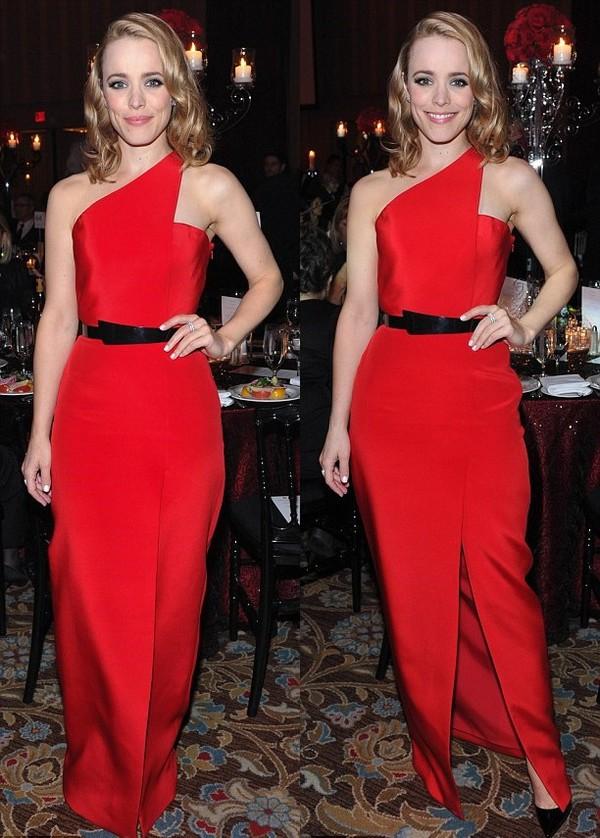 dress red dress rachel mc adams prom dress