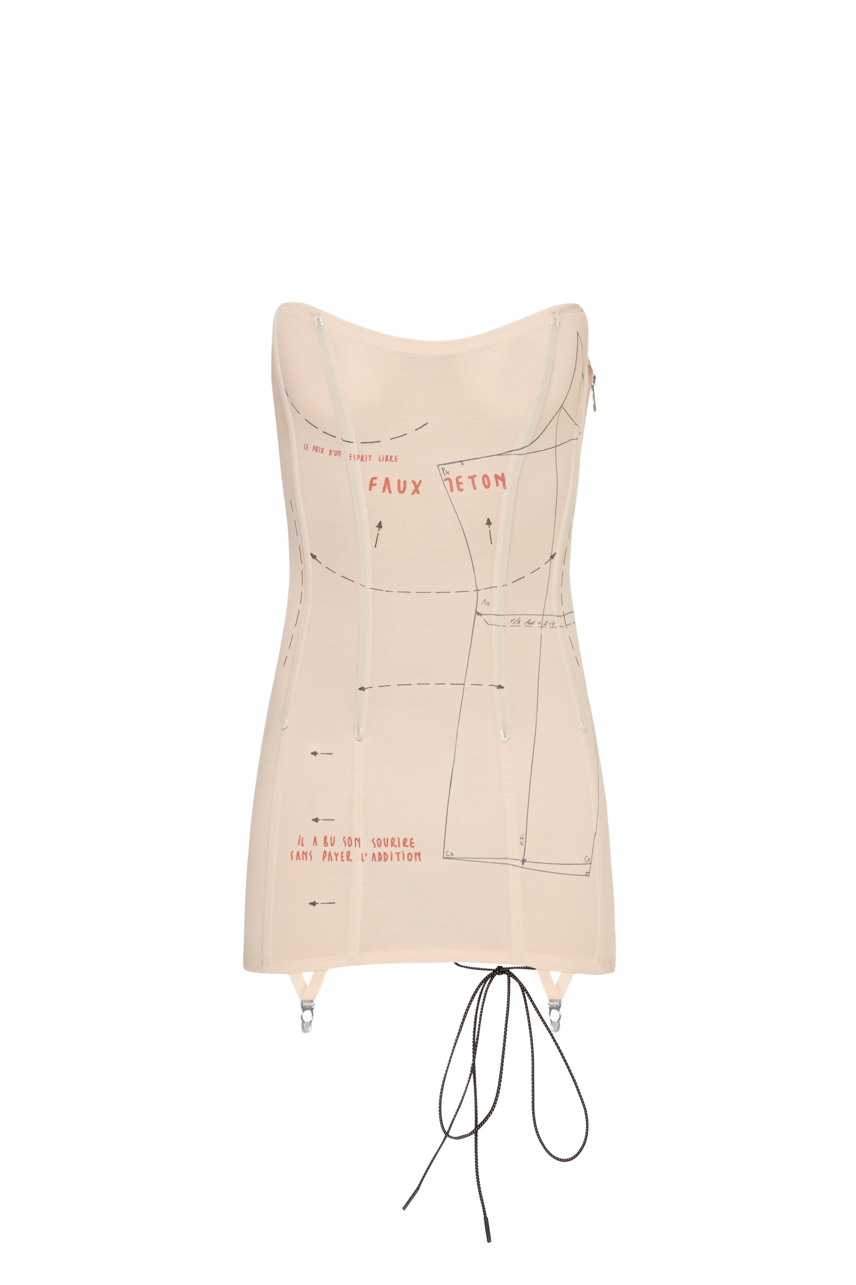 SLIMMING MESH CORSET DRESS
