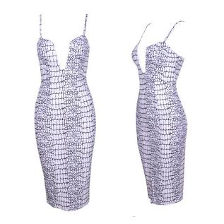Rift Printed V-neck Dress