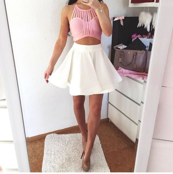 Skirt outfit outfit idea summer outfits cute outfits ...