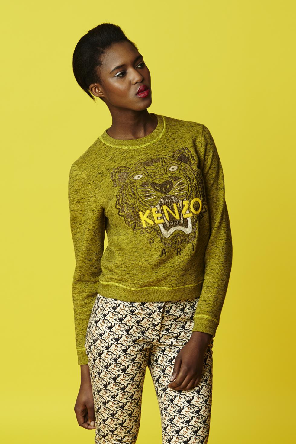 Sweatshirt tête de tigre Kenzo - Collection permanente Kenzo Femme - E-Shop Kenzo | Kenzo.com