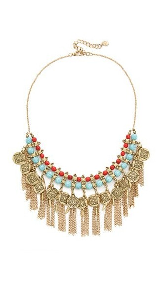 necklace turquoise red jewels