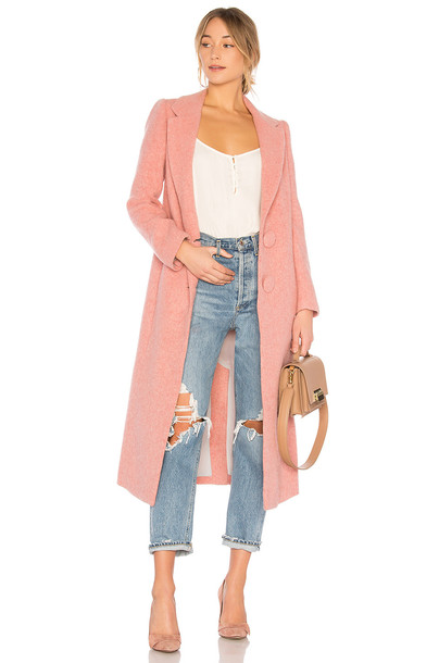 Nicholas coat long pink