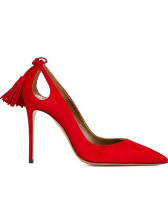 forever pumps red shoes