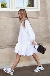shoes,blogger,blogger style,white,white dress,spring outfits,pernille teisbaek,instagram