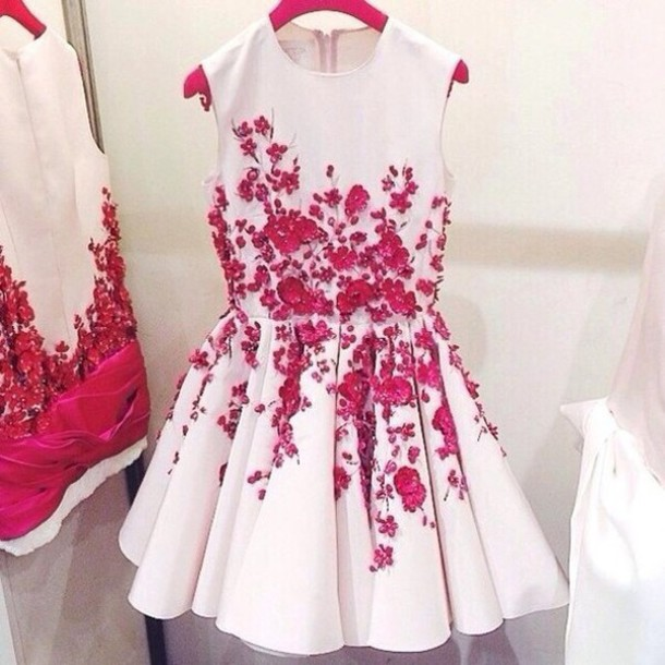 Dress white pink short pink flowers floral white white dress dress white pink short pink flowers floral white white dress pink dress short short dress prom prom dress short prom dress homecoming mightylinksfo