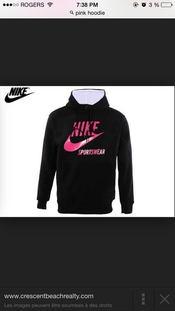 sweater nike air nike sweater hoodie pink