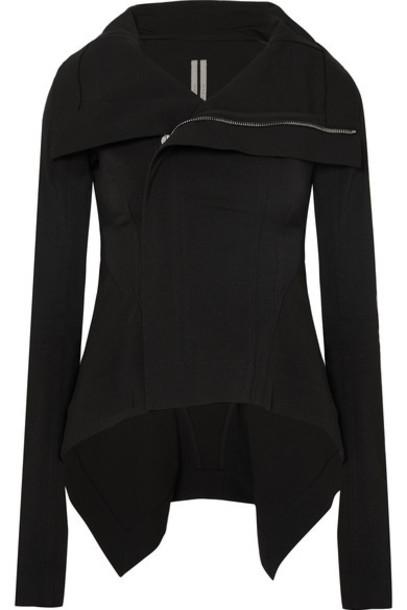 Rick Owens jacket biker jacket cotton black