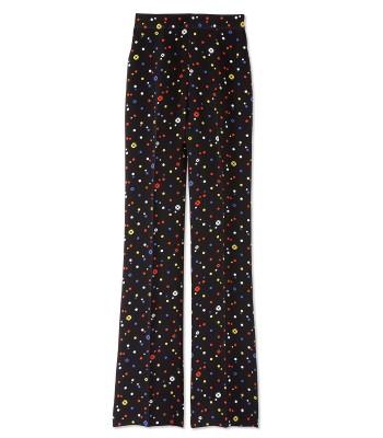 Giulietta Fiorella Print Pant - Black Pant - ShopBAZAAR