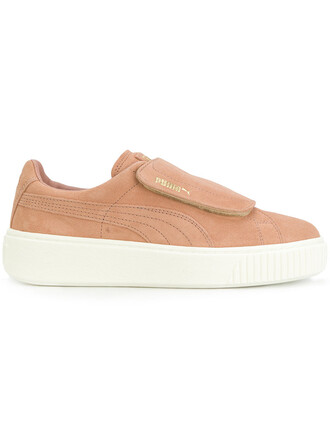 women sneakers platform sneakers suede purple pink shoes