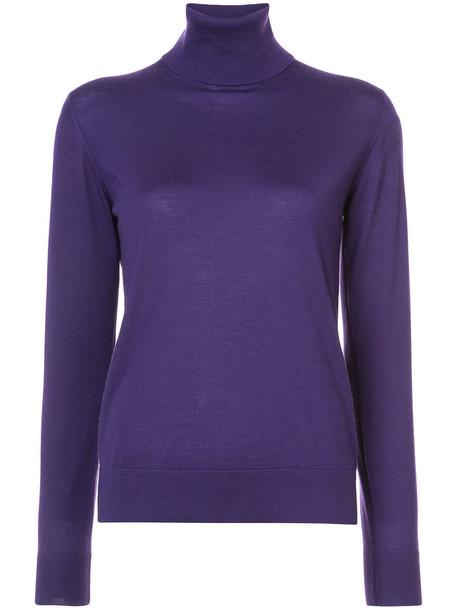 Ralph Lauren Collection jumper turtleneck women purple pink sweater
