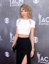 shirt,taylor swift,white,white shirt,crop tops,cut-out,classy,skirt