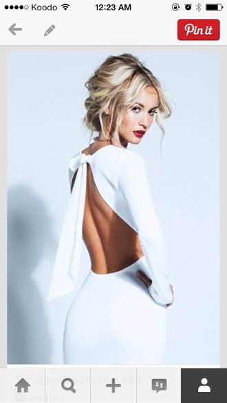 beautiful white backless dress open back dress style wedding dress classy