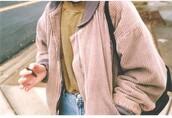 jacket,pink,suede
