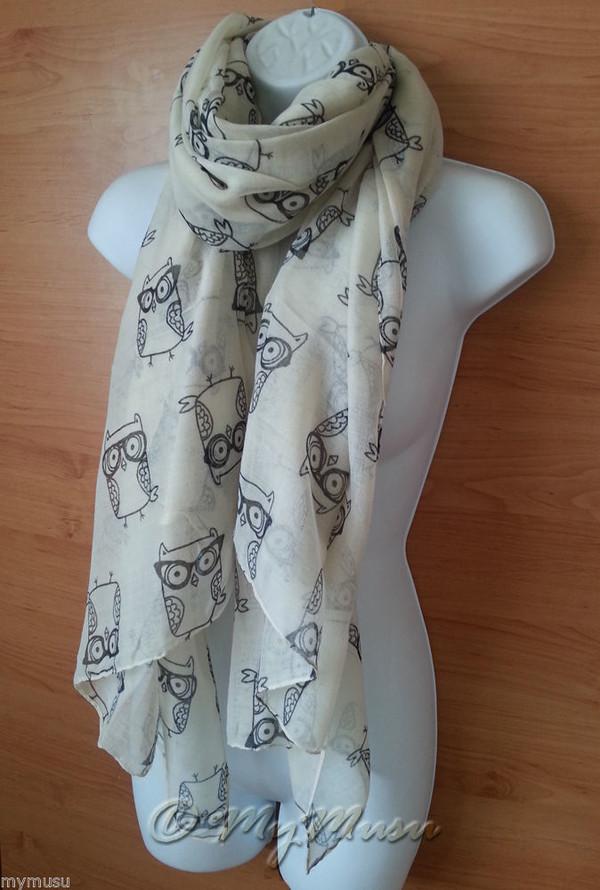 scarf mymusu london mymusu owl print scarf